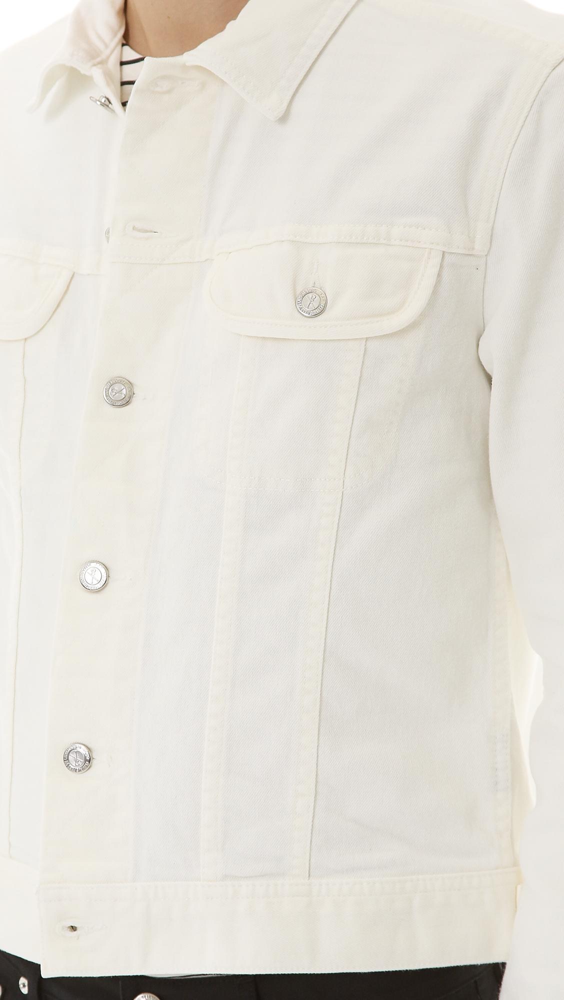 A.P.C. White Denim Jean Jacket for Men