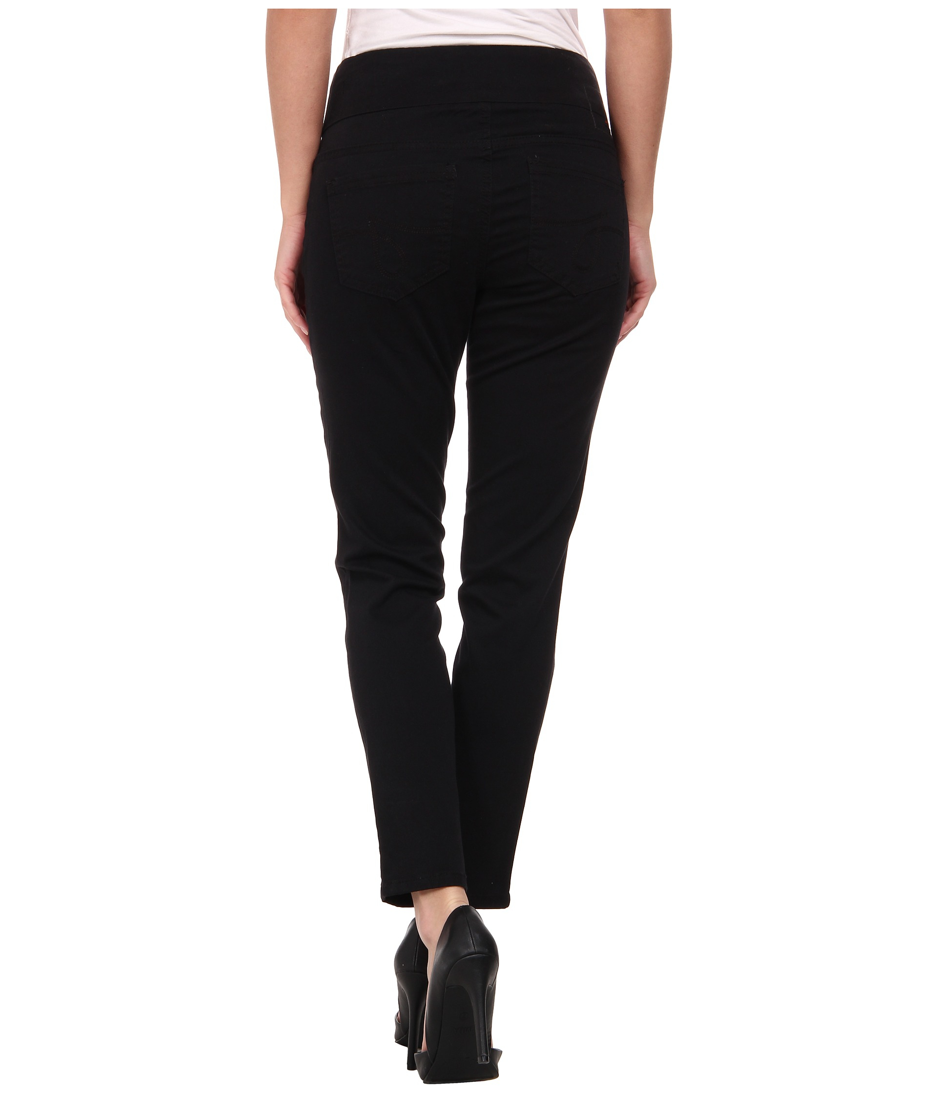 Jag jeans Amelia Pull-on Slim Ankle In Bay Twill in Black   Lyst
