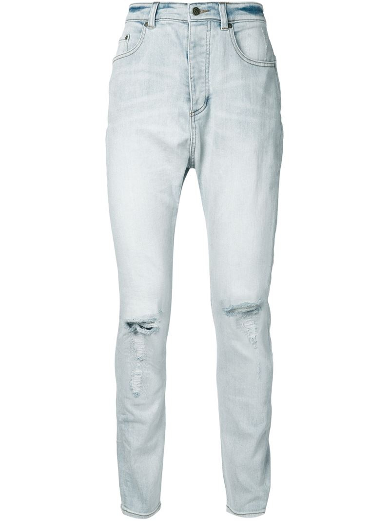 Zanerobe Ripped Skinny Jeans in Blue for Men