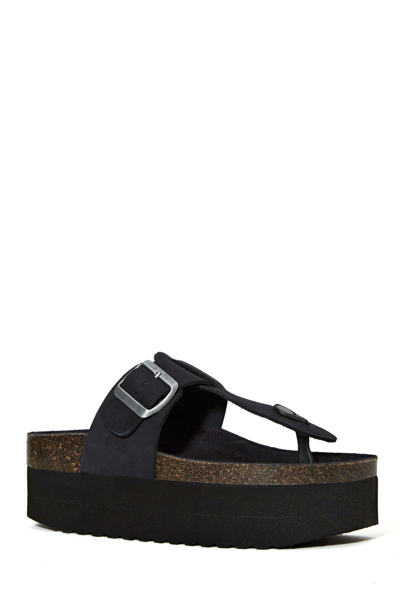 Nasty Gal Jeffrey Campbell Vesuvius Platform Sandal In