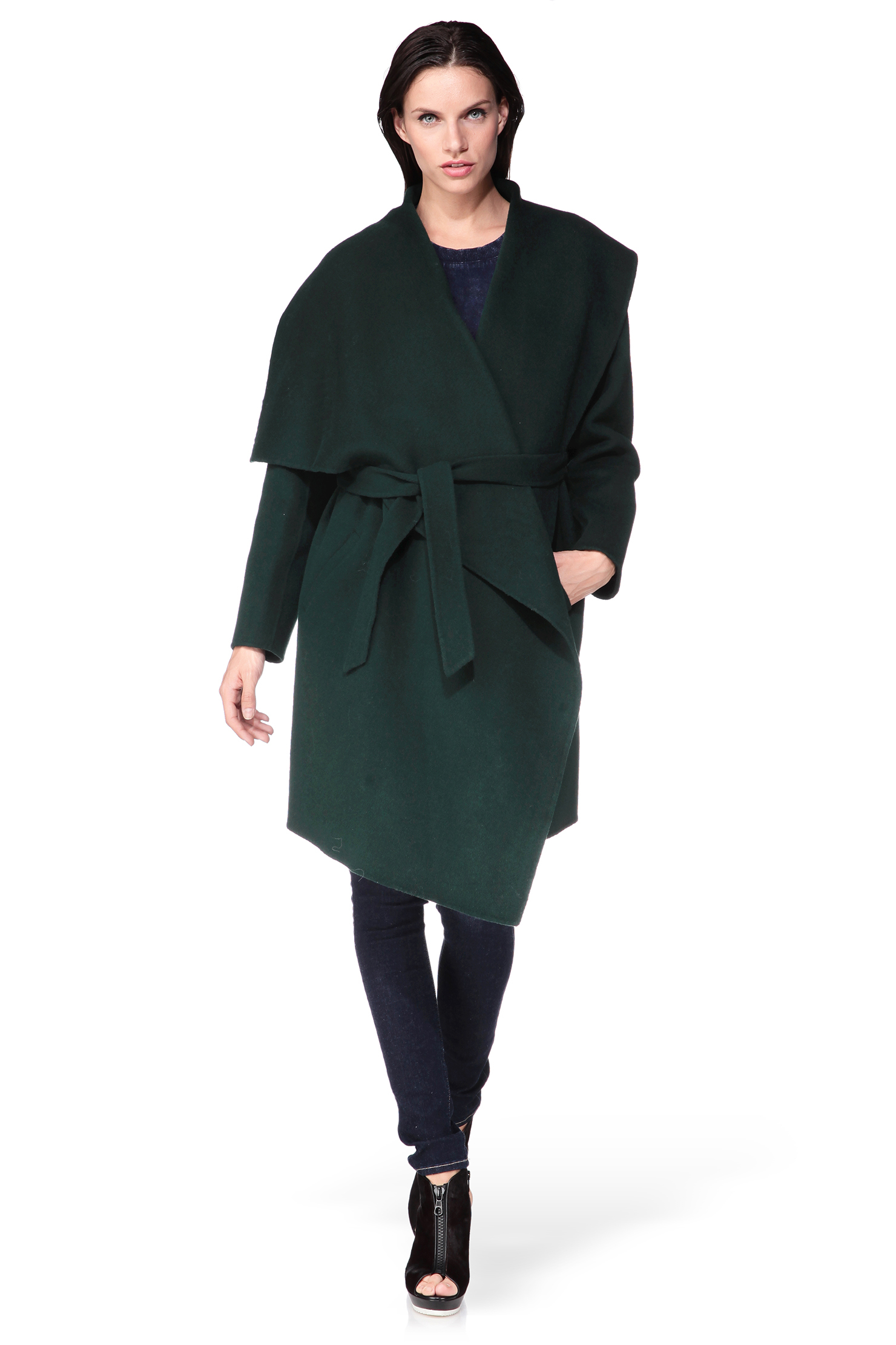2nd day Long Coat in Green | Lyst
