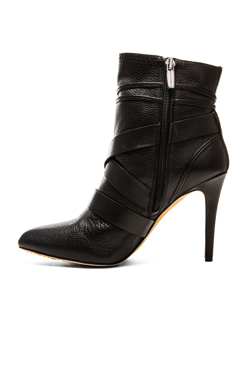 Vince Camuto Leather Barin High Heel Ankle Boots In Black