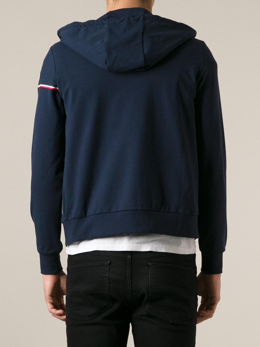 moncler zipper hoodie