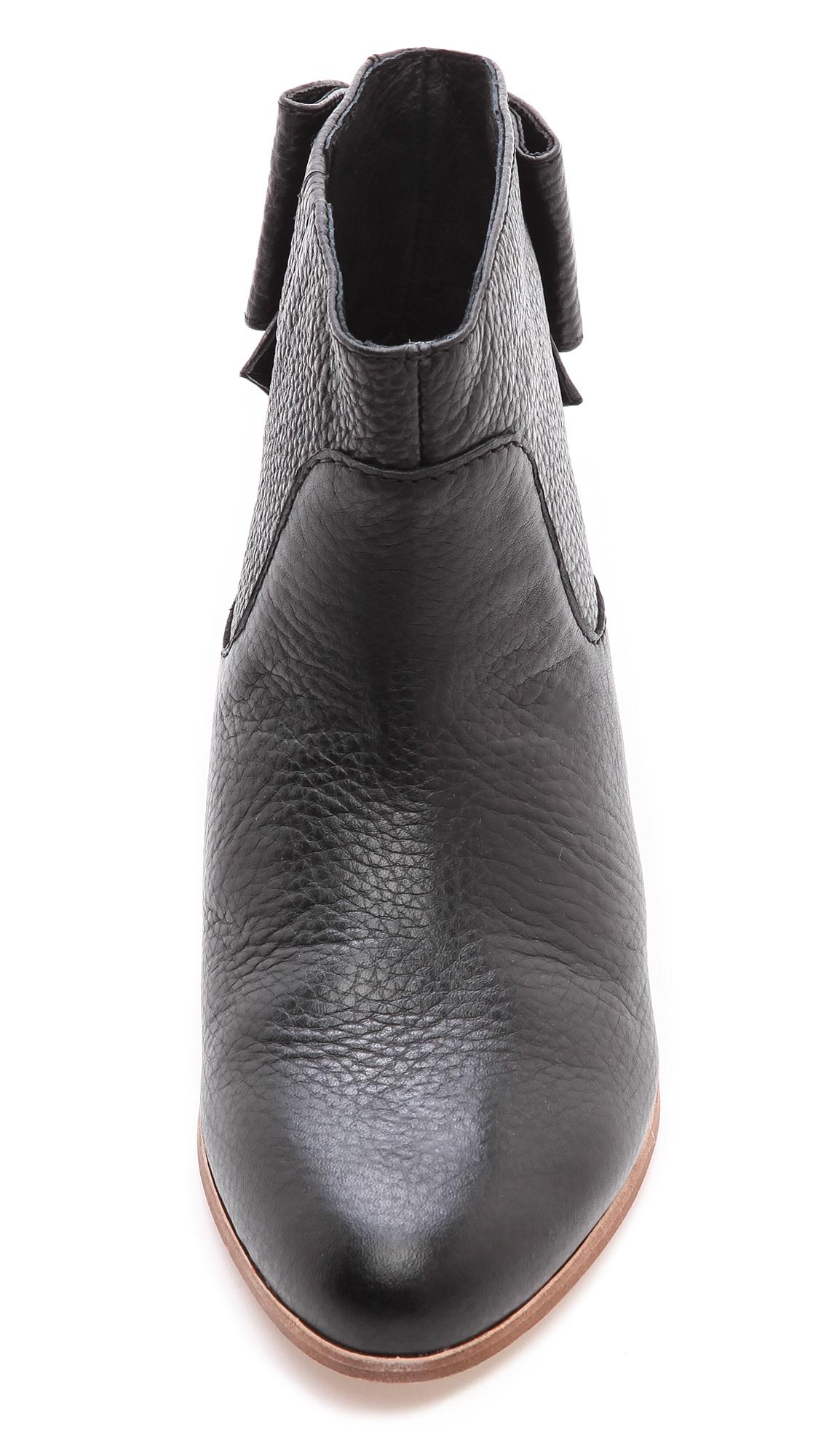 Kate Spade Prospect Flat Bow Booties - Black - Lyst-6358