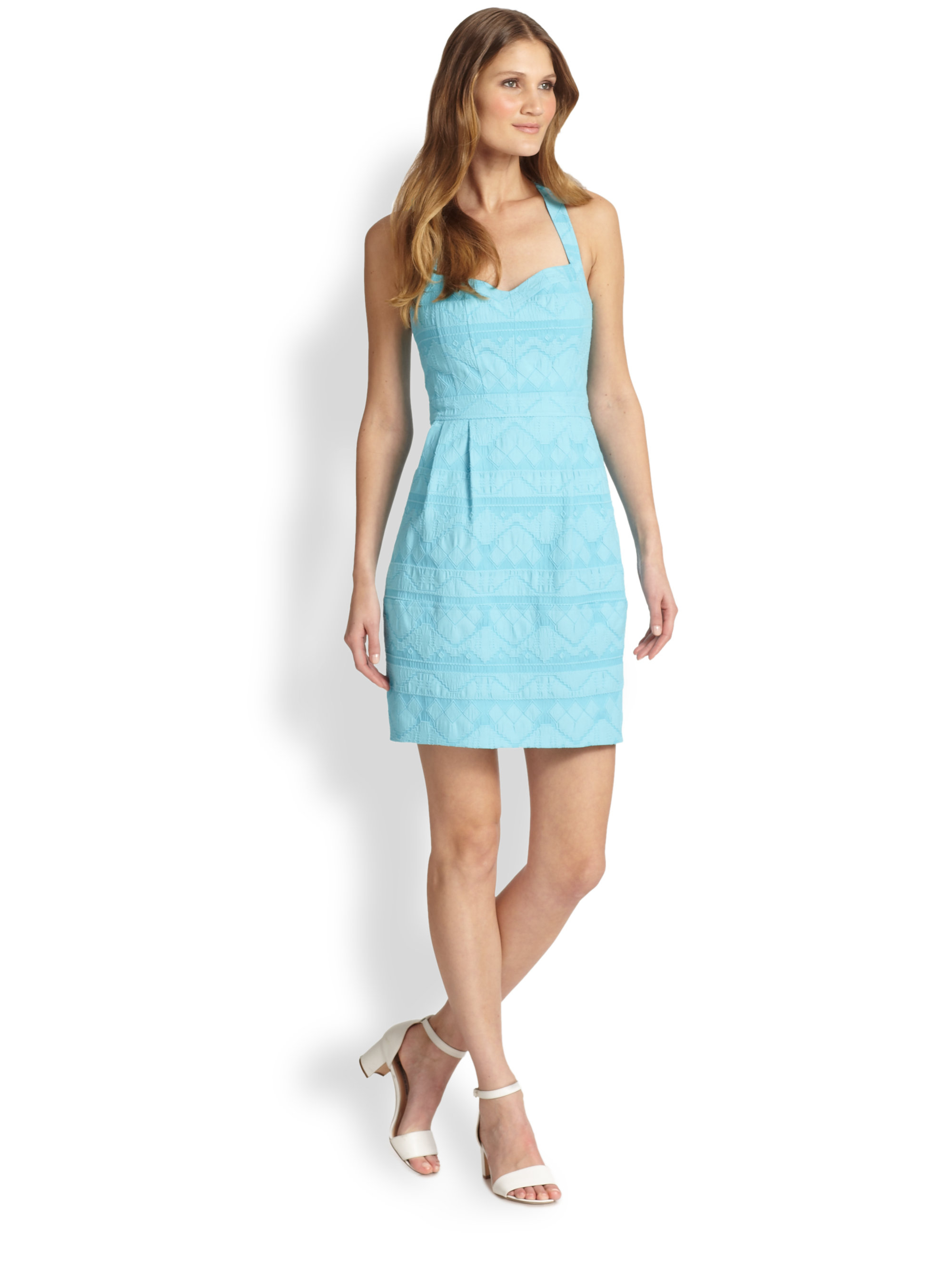 Nanette lepore Sizzling Dress in Blue  Lyst