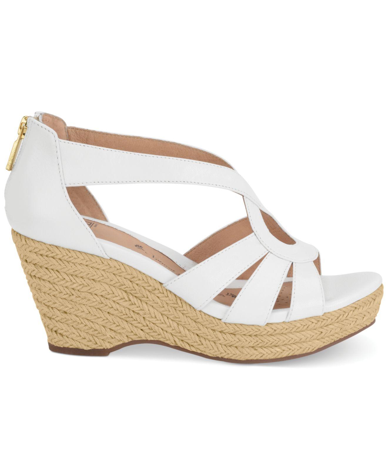 s 246 fft mena platform wedge sandals in white lyst