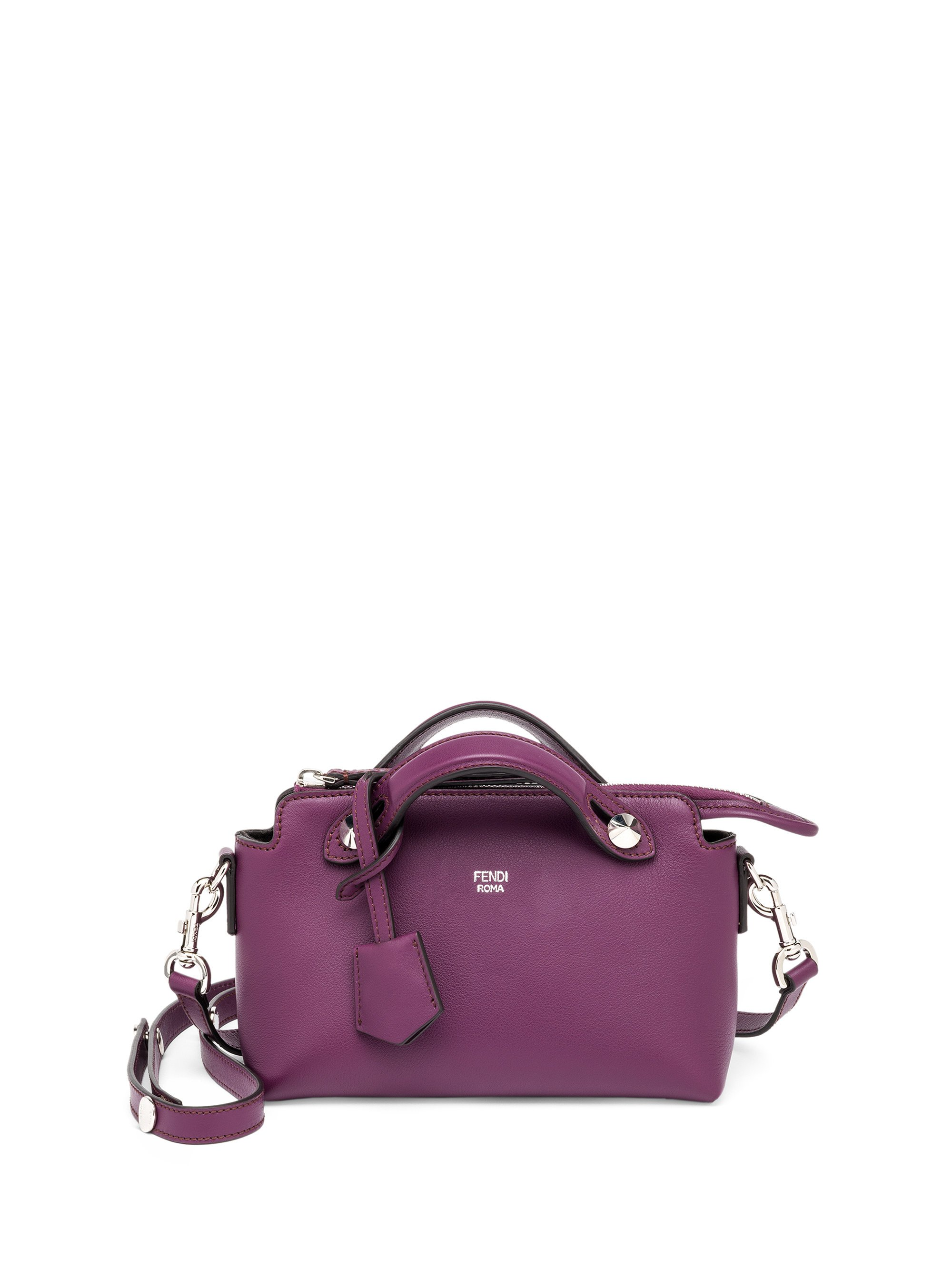 b290e16f6f Fendi By The Way Mini Leather Satchel in Purple - Lyst