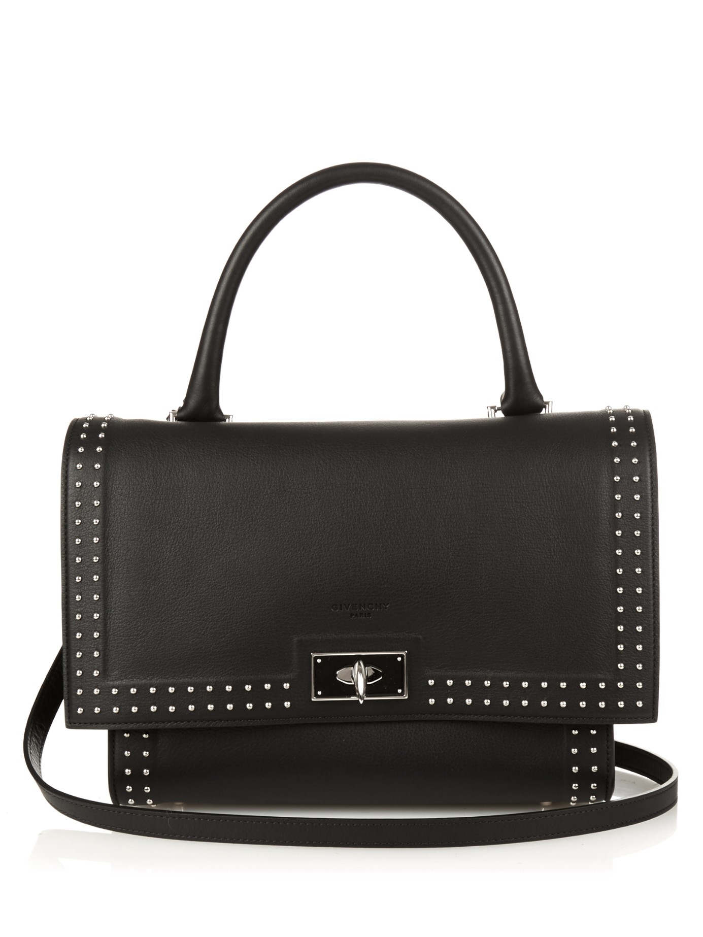 57758c20f87c Lyst - Givenchy Shark Stud-trim Leather Bag in Black