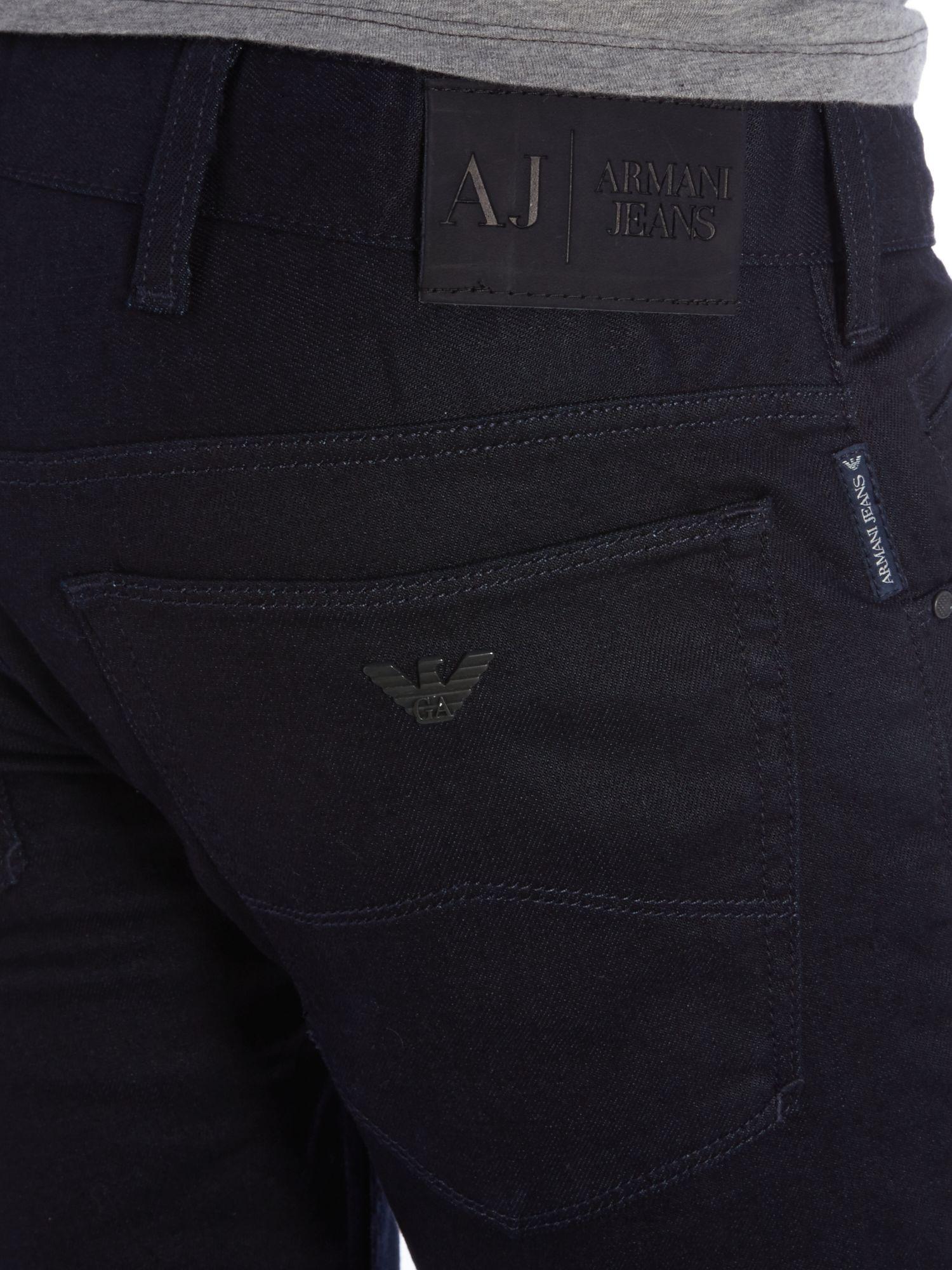 Armani jeans J23 Slim Fit Dark Overdye Jean in Gray for Men | Lyst