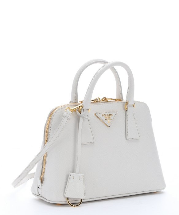 prada wristlet purse - Prada White Saffiano Leather \u0026#39;promenade\u0026#39; Mini Crossbody Bag in ...