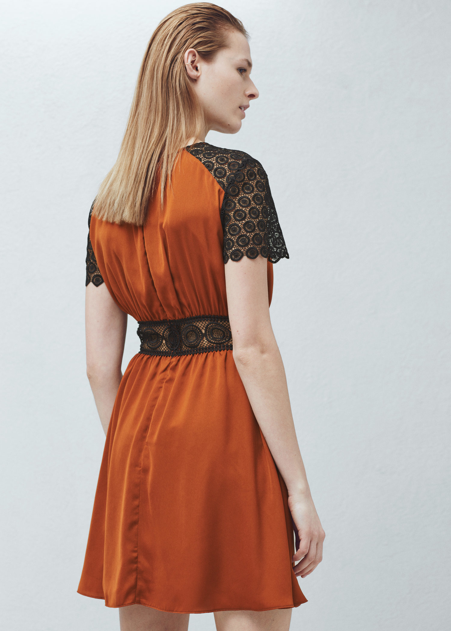Mango red lace dress for sale