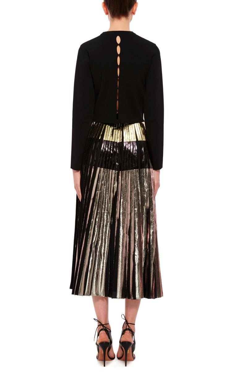 proenza schouler pleated a line skirt in black lyst