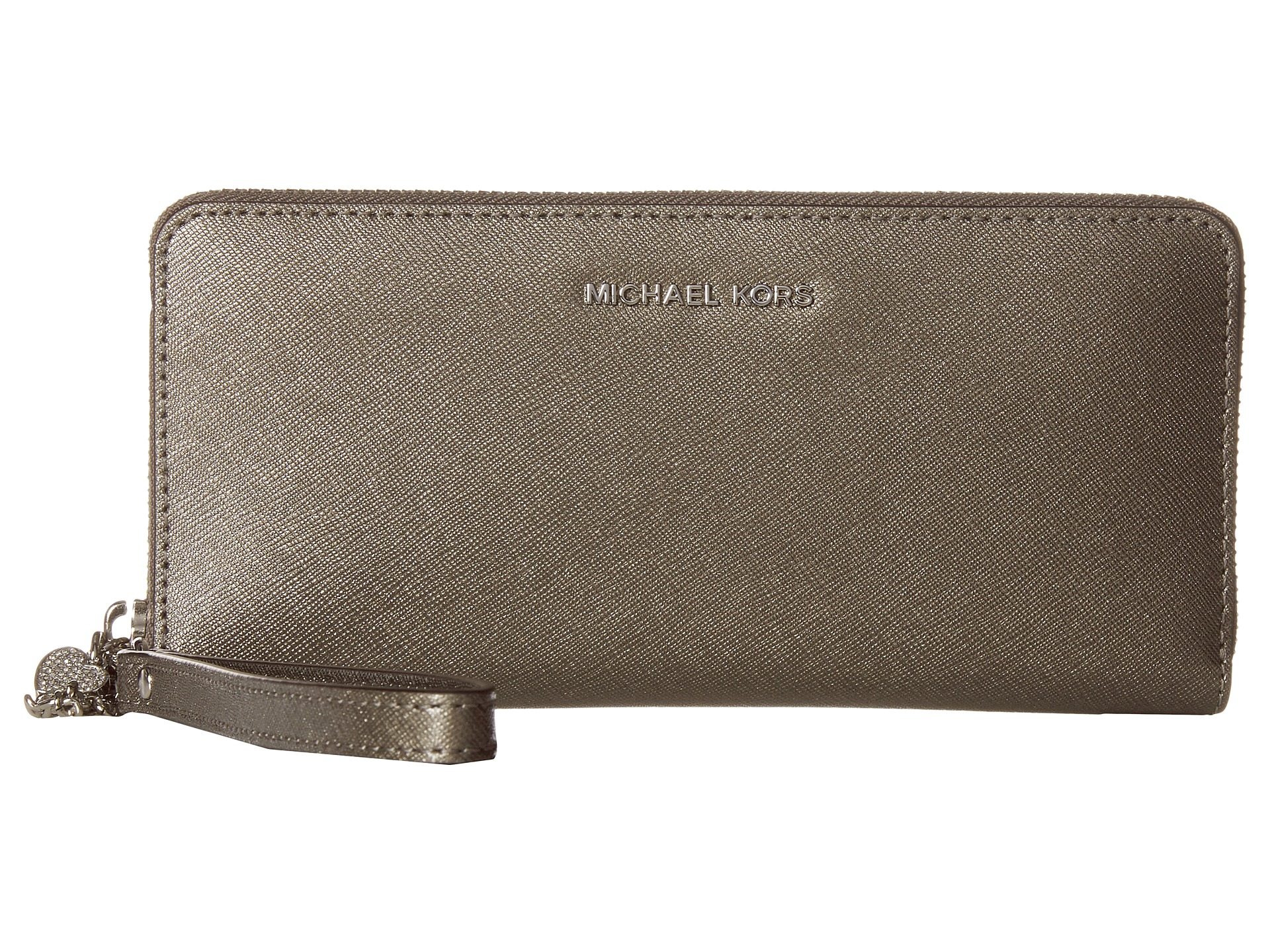 1b244b05d942b5 ... coupon code for lyst michael michael kors alex travel continental wallet  in metallic 8c7bd 01d57