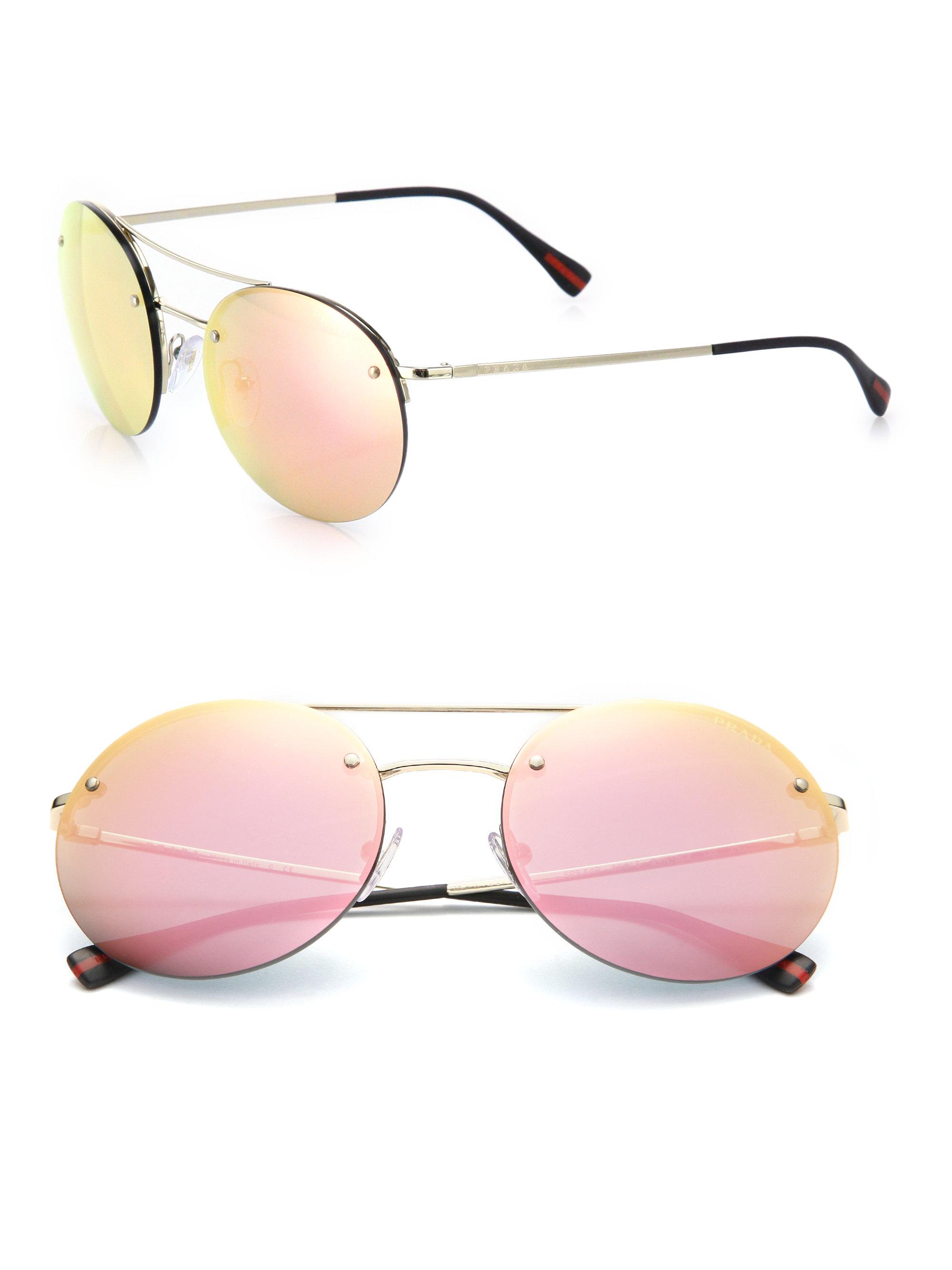 Prada Rounded Aviator Sunglasses | Louisiana Bucket Brigade