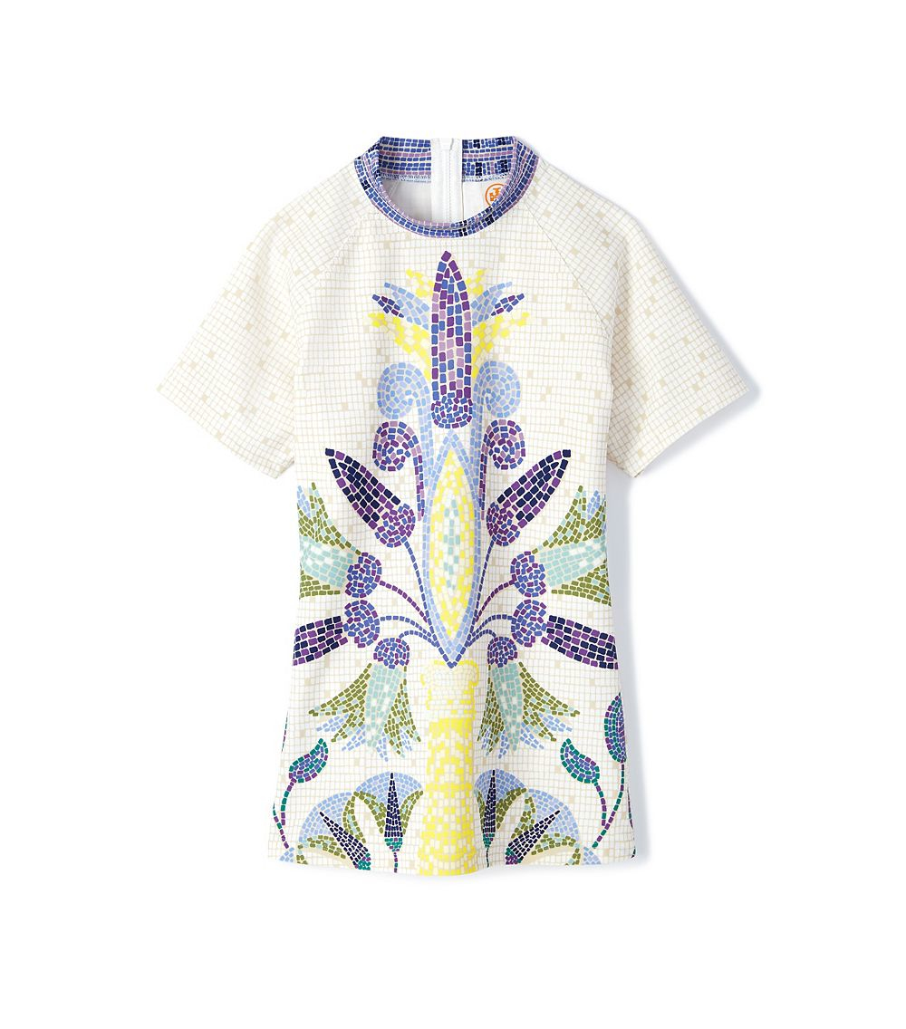 Lyst Tory Burch Mosaic Surf Shirt