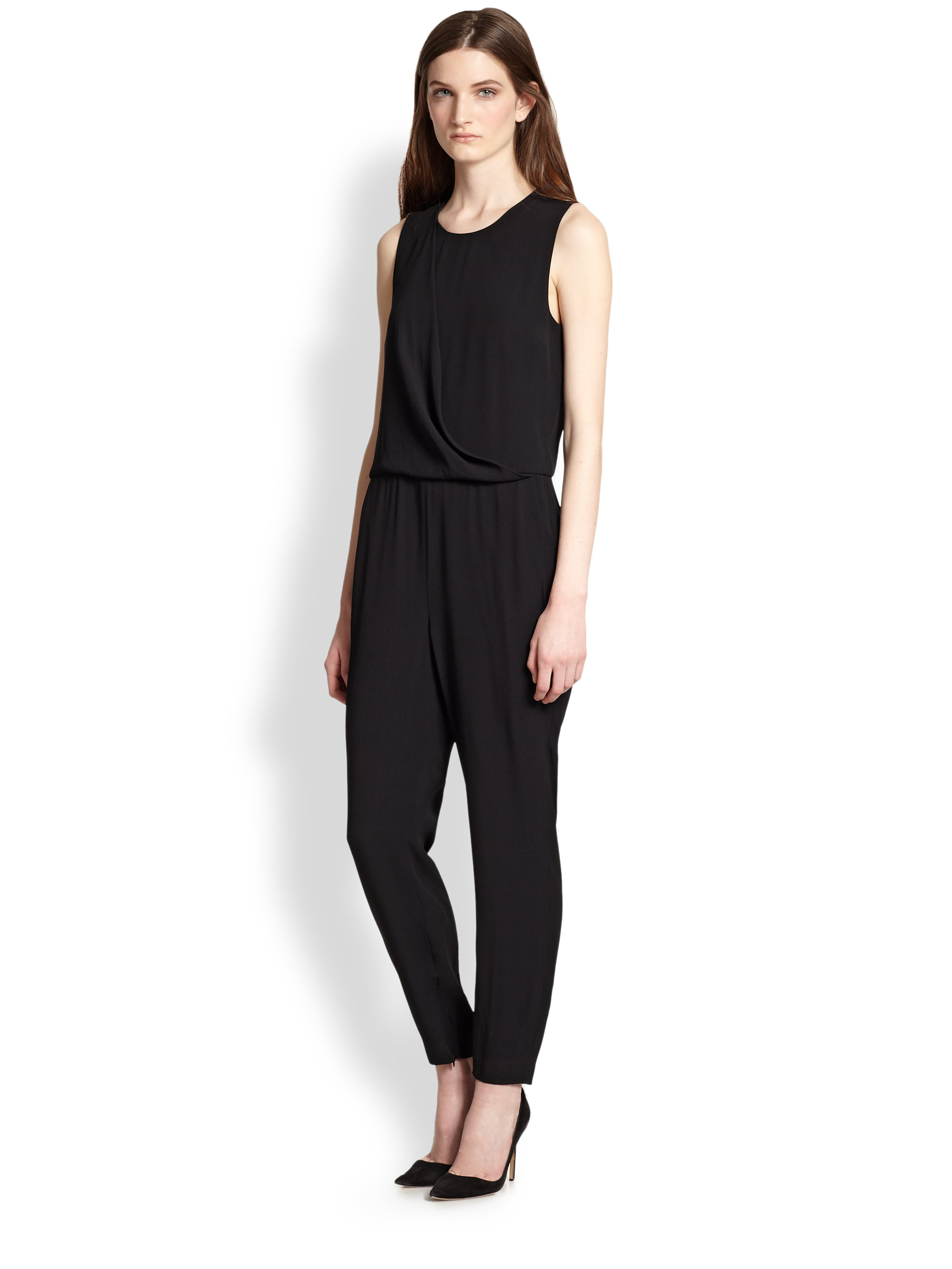 f7ee6f9d283f Lyst theory daimine jumpsuit in black jpg 2000x2667 Theory jumpsuit