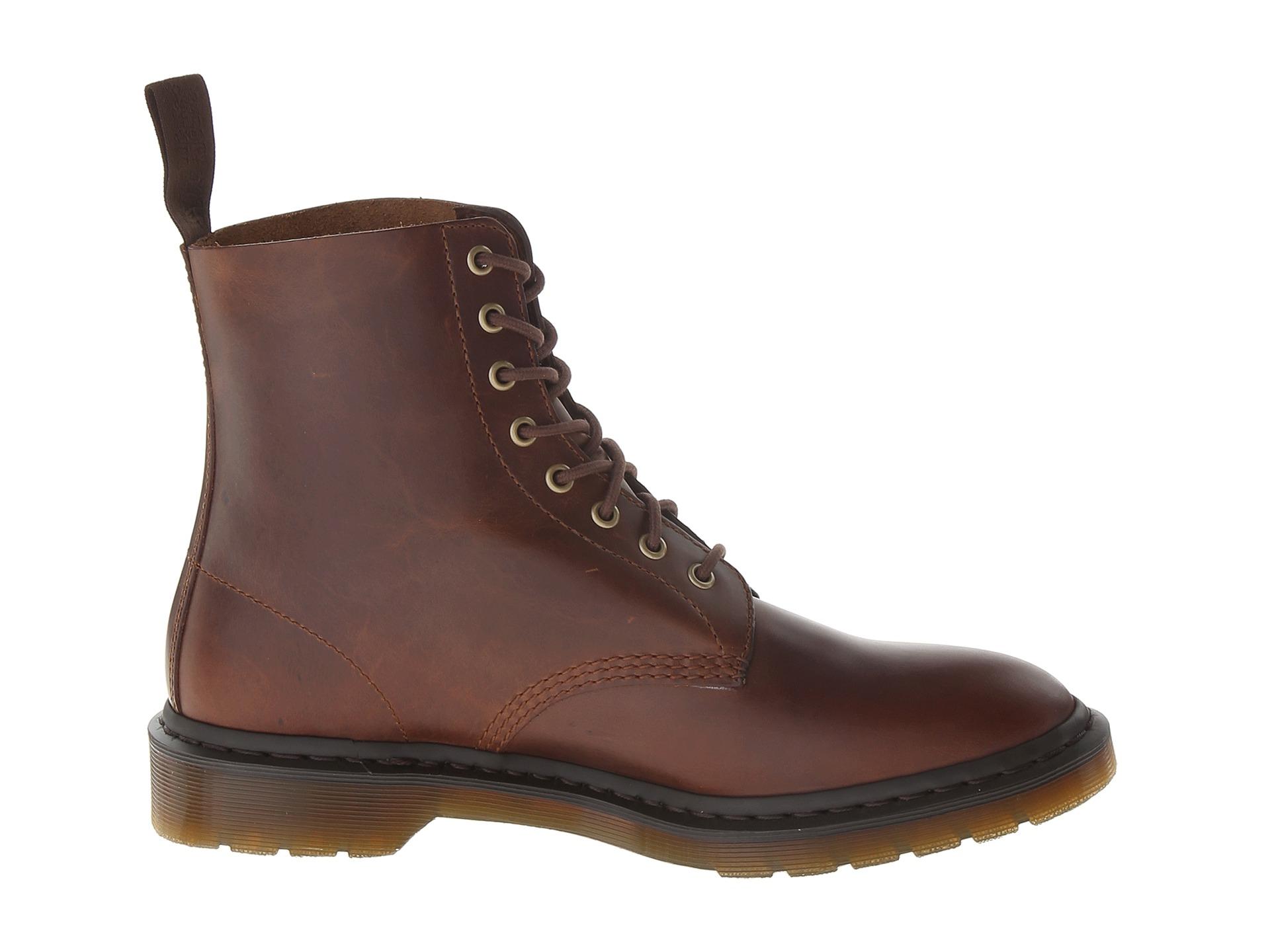 lyst dr martens pascal 8 eye boot in brown for men. Black Bedroom Furniture Sets. Home Design Ideas