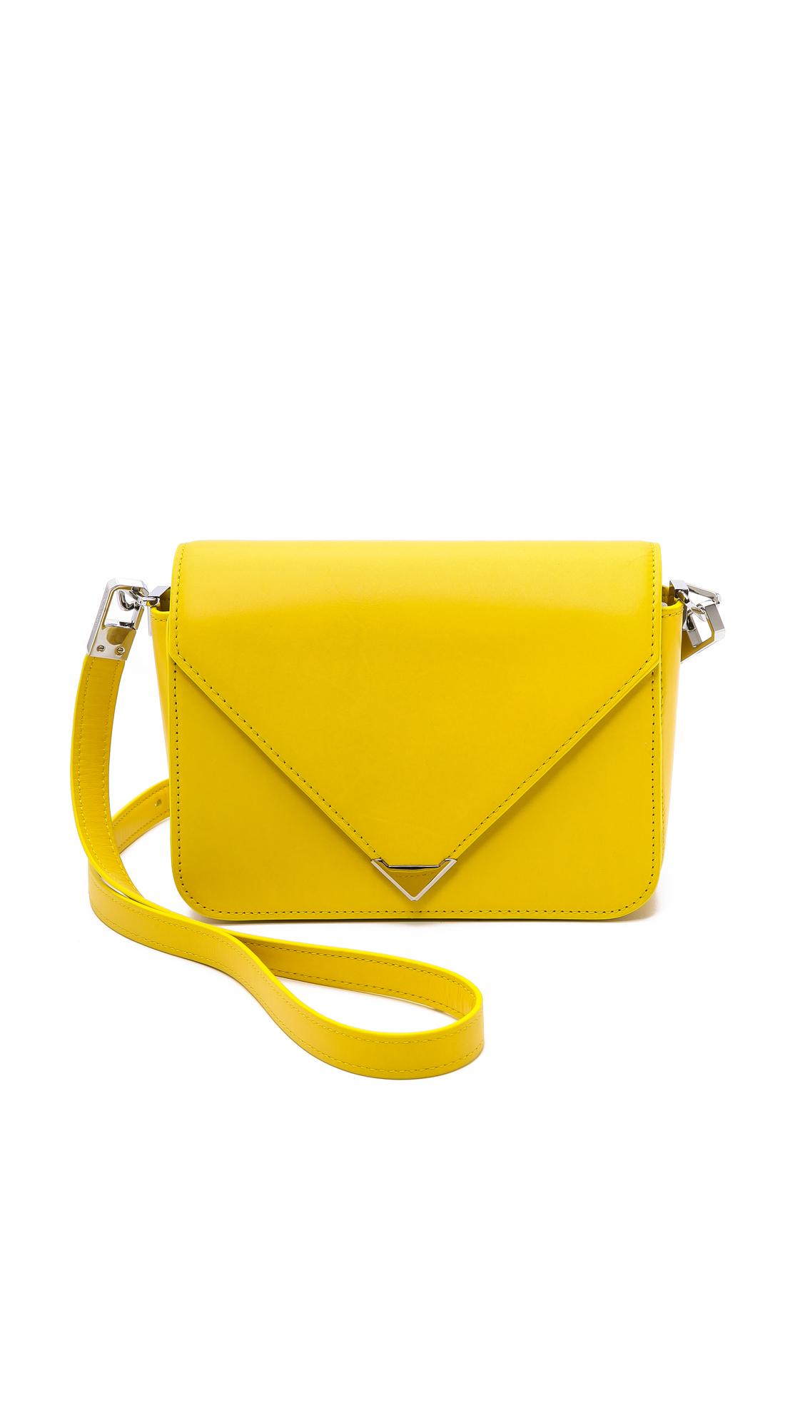Alexander wang Prisma Envelope Small Sling Bag - Limonite in ...
