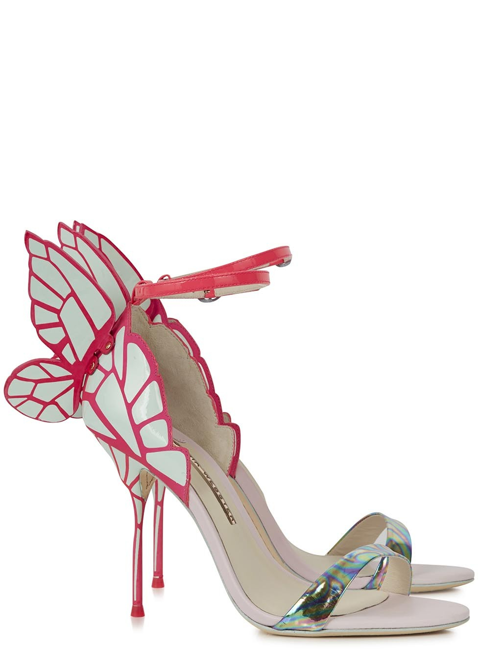 Sophia Webster Chiara Butterfly Leather Sandals In Pink Lyst