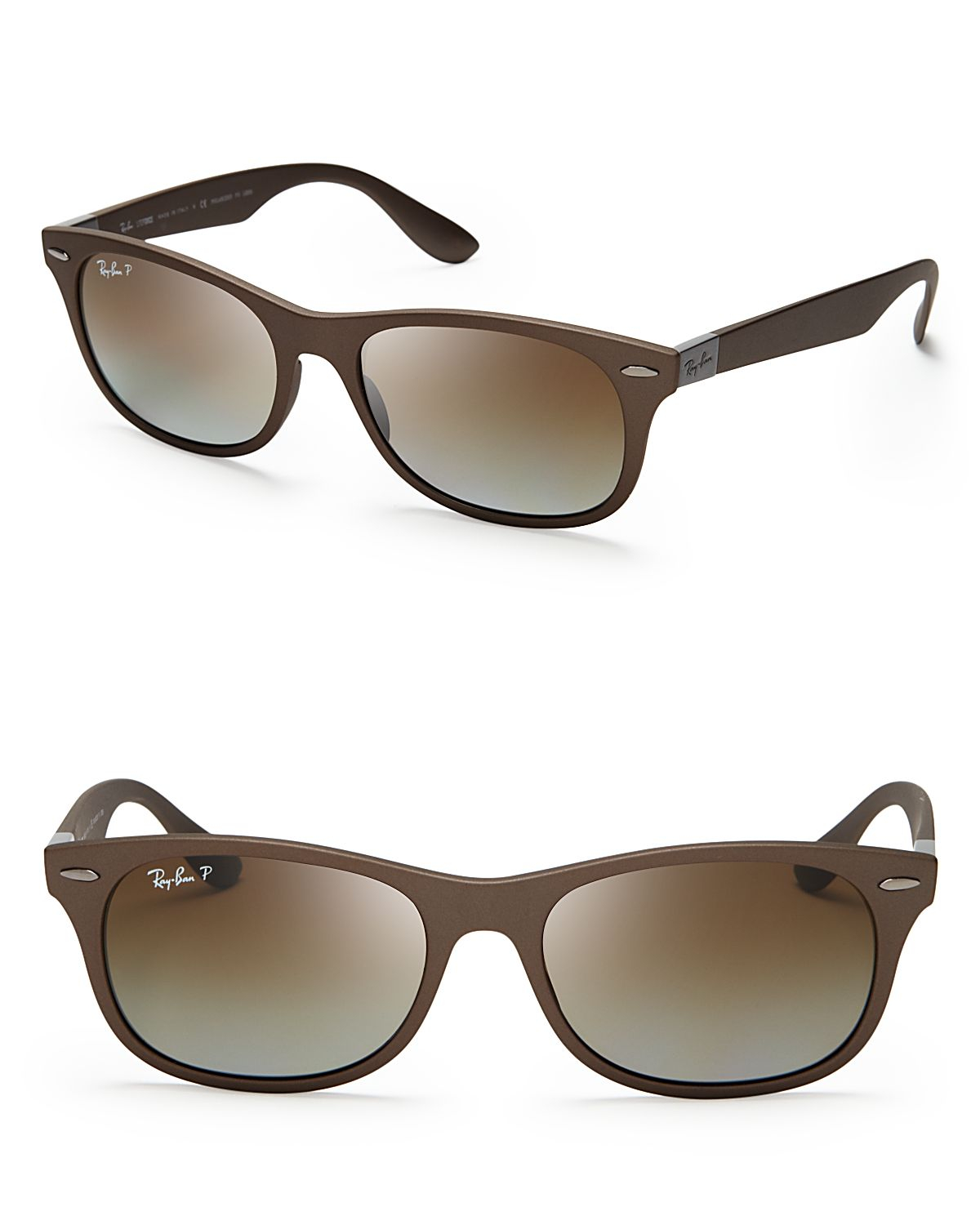 d2d57d32d2 Lyst - Ray-Ban Polarized New Wayfarer Lite Force Sunglasses in Brown