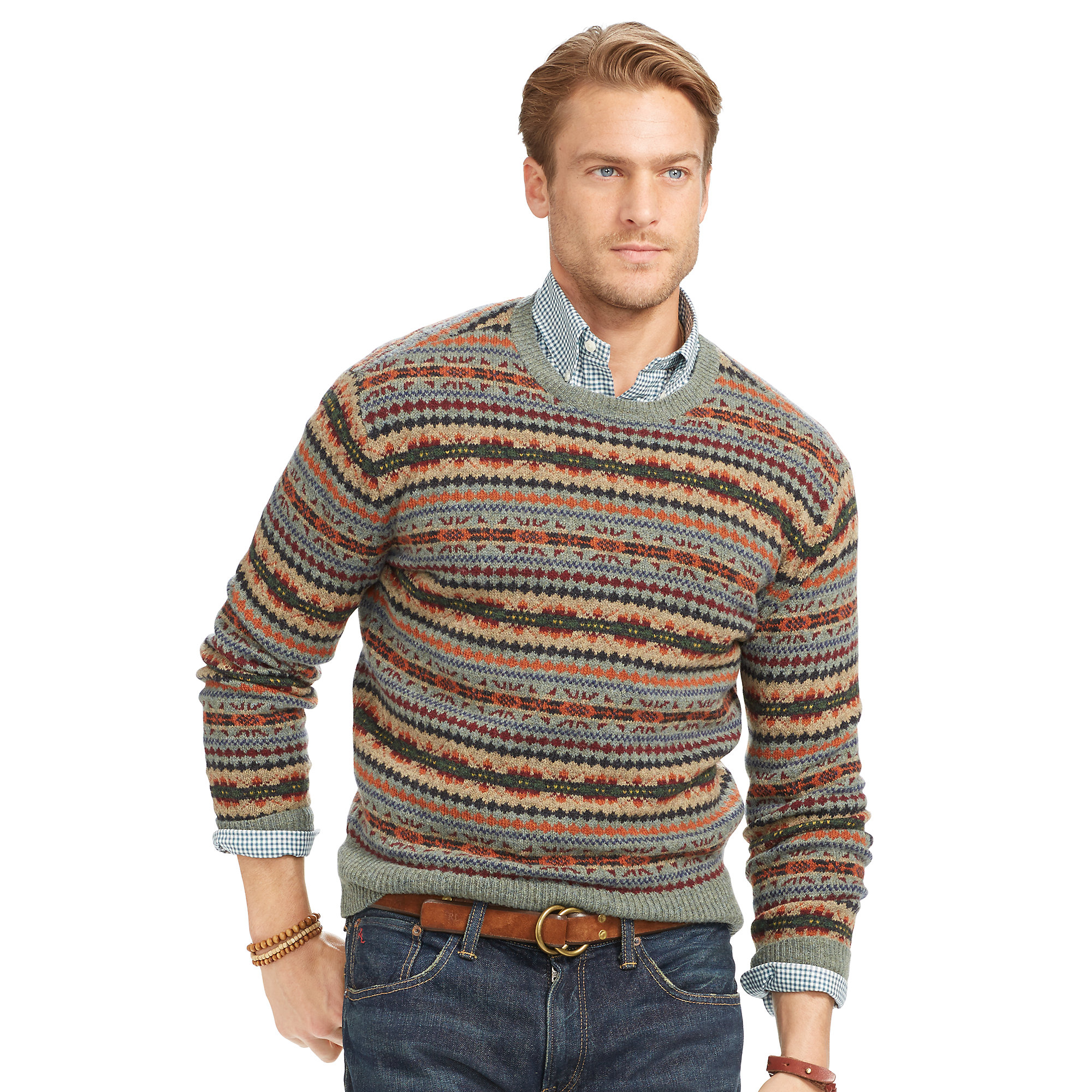Polo ralph lauren Fair Isle Merino Wool Sweater for Men | Lyst