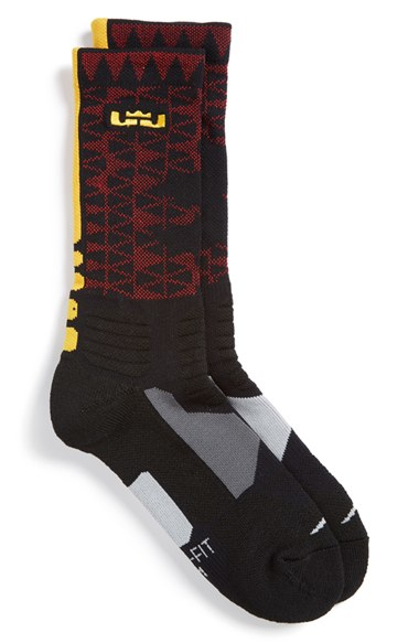 e87ecda78b96 Lyst - Nike  lebron - Hyper Elite  Cushioned Basketball Crew Socks ...