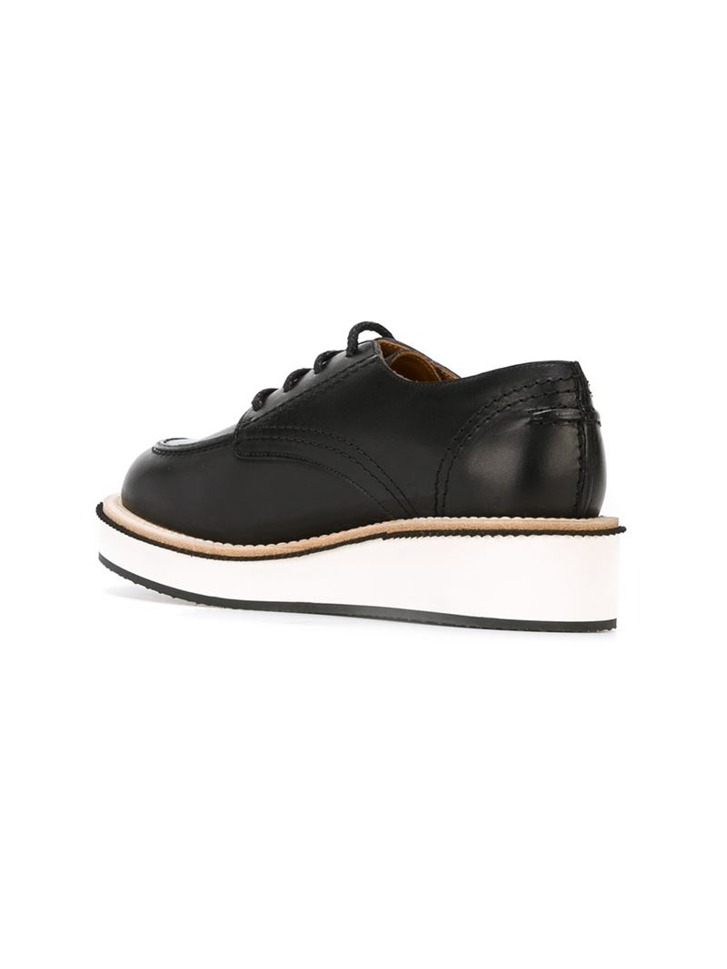 givenchy platform derby shoes in black for lyst