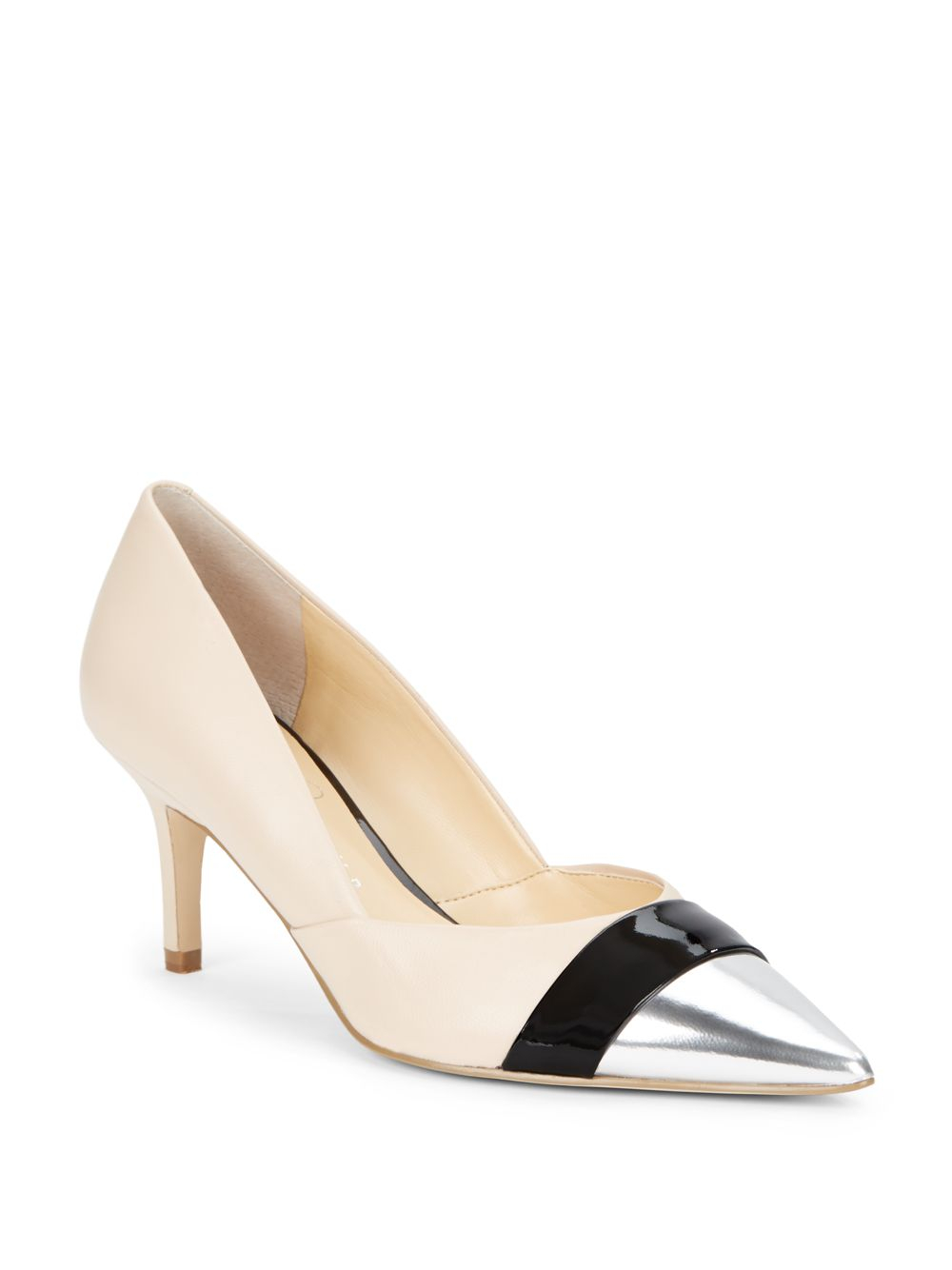 320ee28f1f5 Lyst - Ivanka Trump Nyle Tri-Color Pumps Nude in Natural