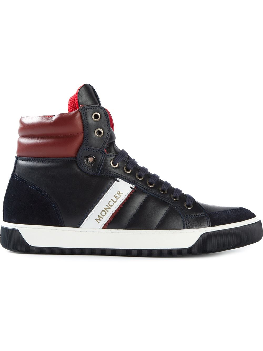 Moncler New Lyon Sneakers In Brown For Men Blue Lyst