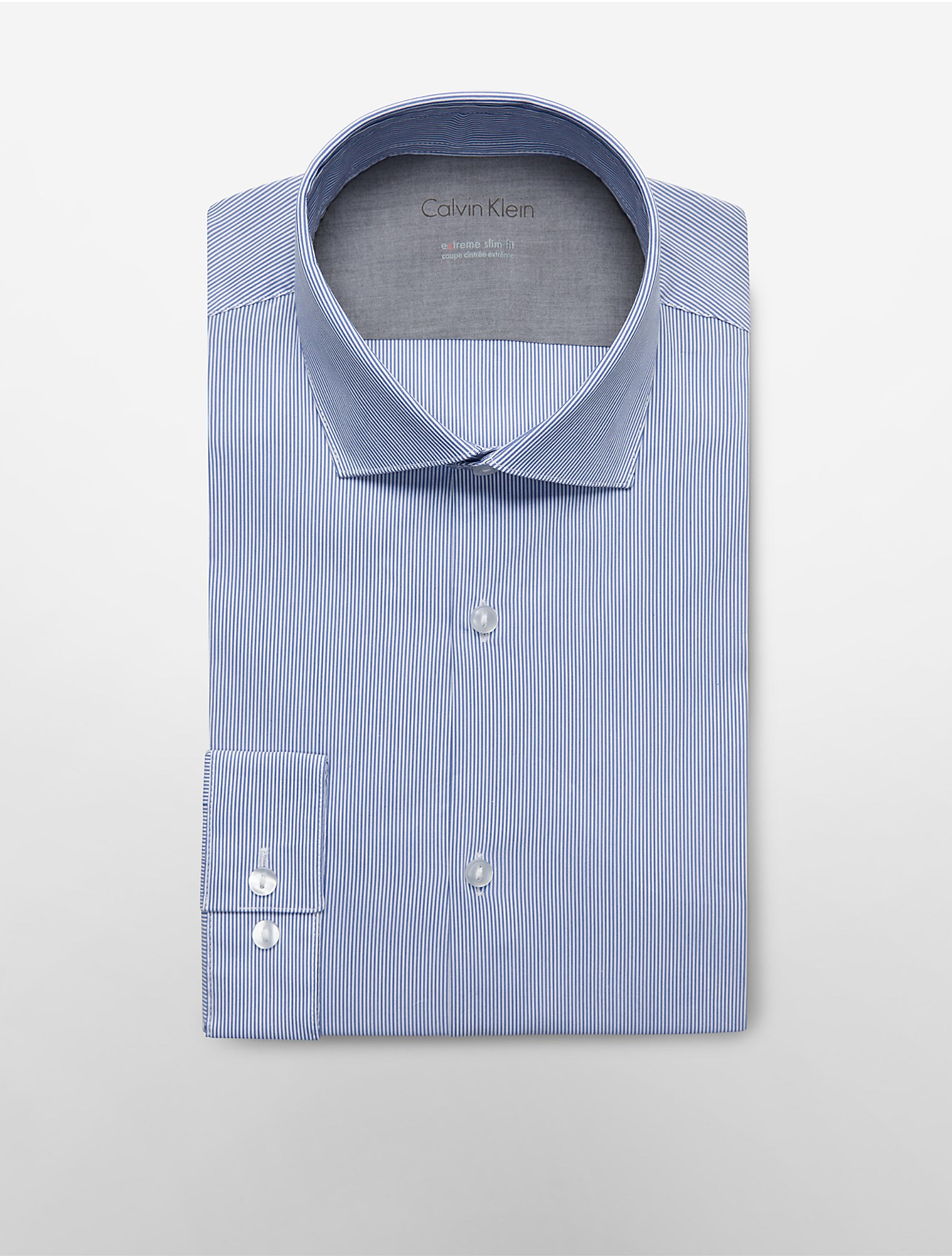 Lyst calvin klein white label x fit ultra slim fit for Calvin klein x fit dress shirt