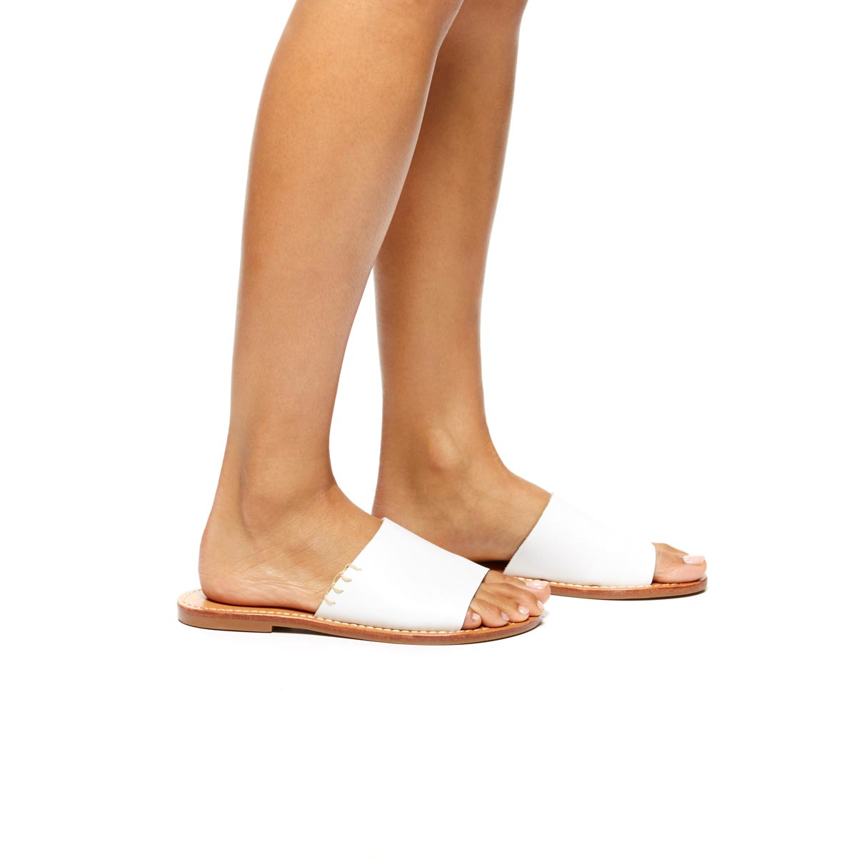 Soludos Leather Slide Sandal in Leather