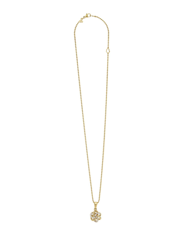 lagos 18k knot pendant necklace in metallic