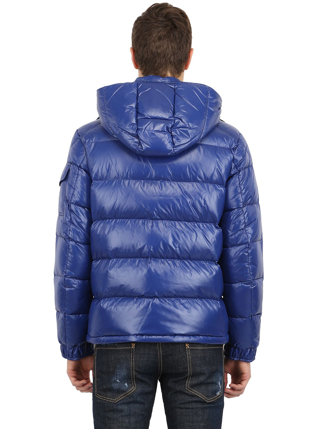 fefcf8a12 Moncler Maya Shiny Nylon Down Jacket in Blue for Men - Lyst