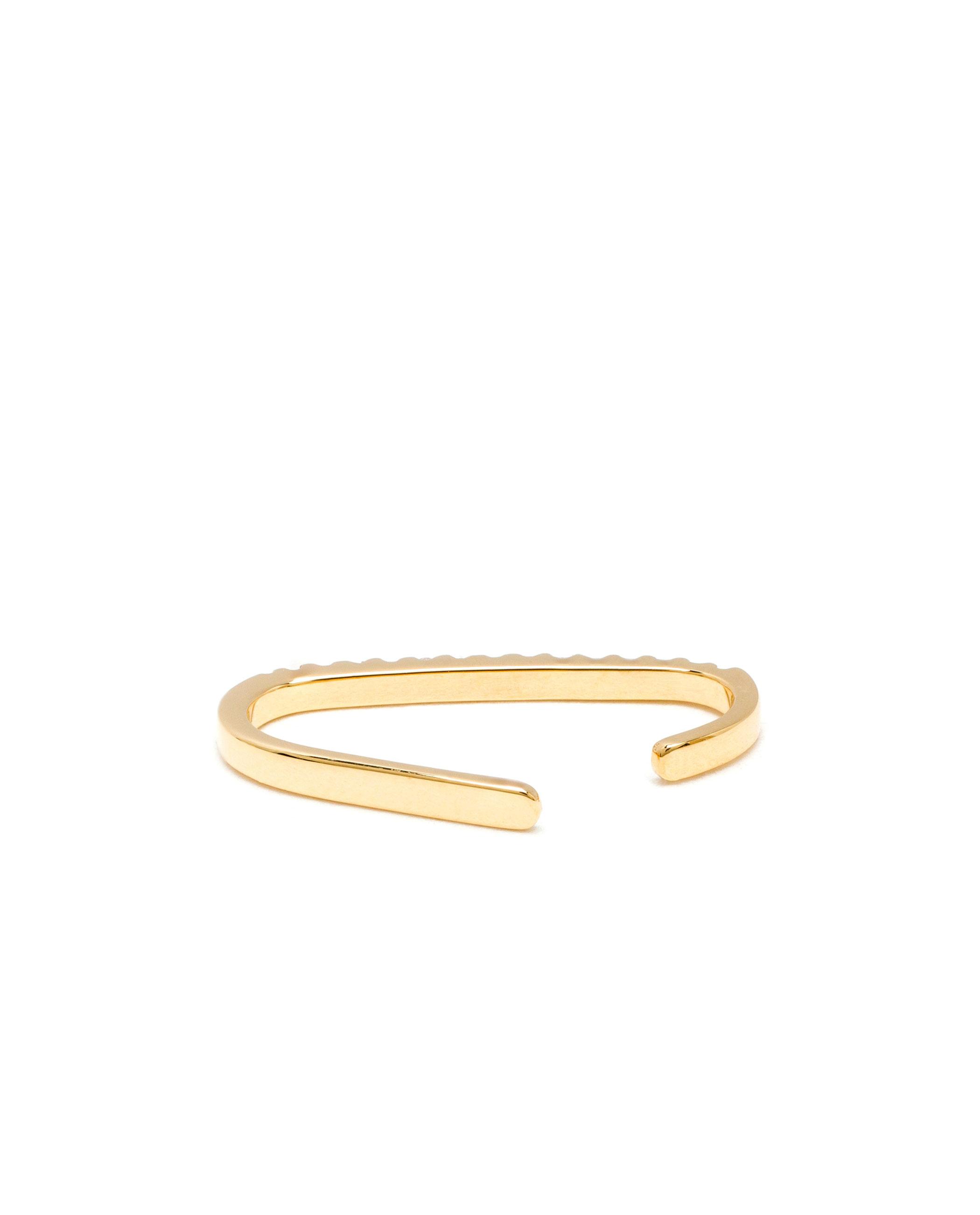 Maria Black Revier Diamond Ear Cuff in Gold (Metallic)
