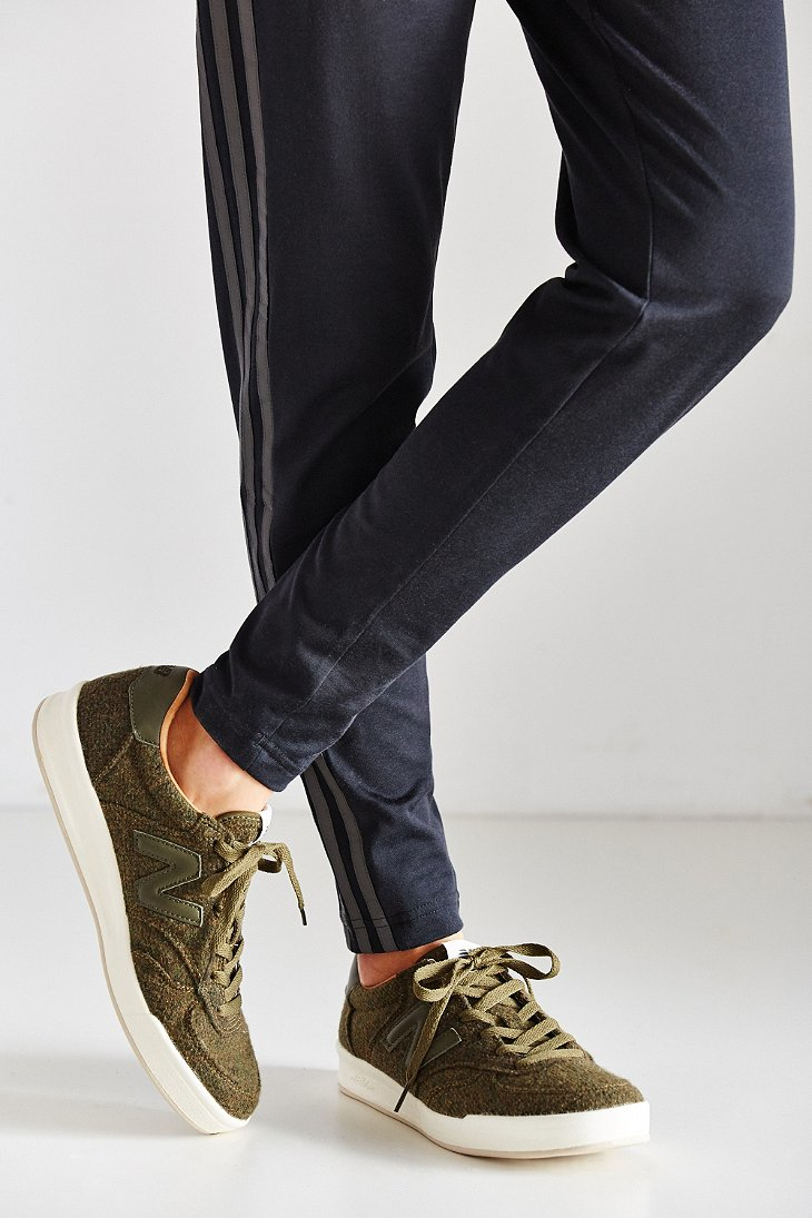 new balance grey felt 300 sneakers