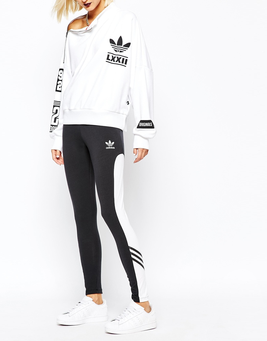 adidas originals originals rita ora leggings with contrast panel lyst. Black Bedroom Furniture Sets. Home Design Ideas