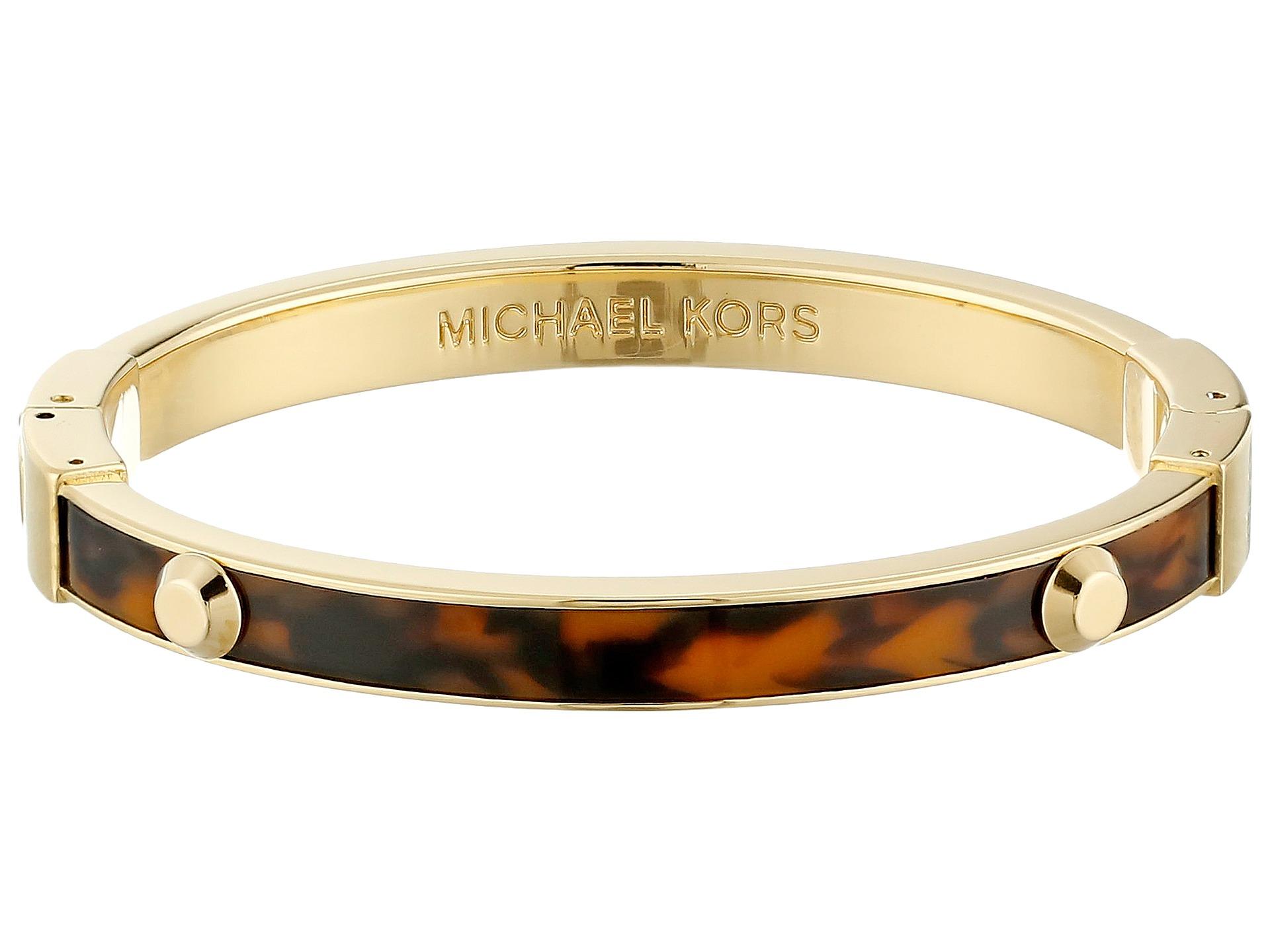 michael kors resort astor bangle bracelet in brown. Black Bedroom Furniture Sets. Home Design Ideas