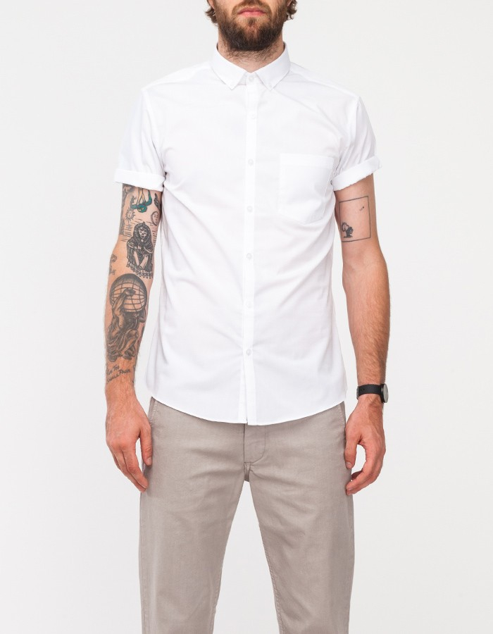 Topman White Button Down Shirt in White for Men | Lyst