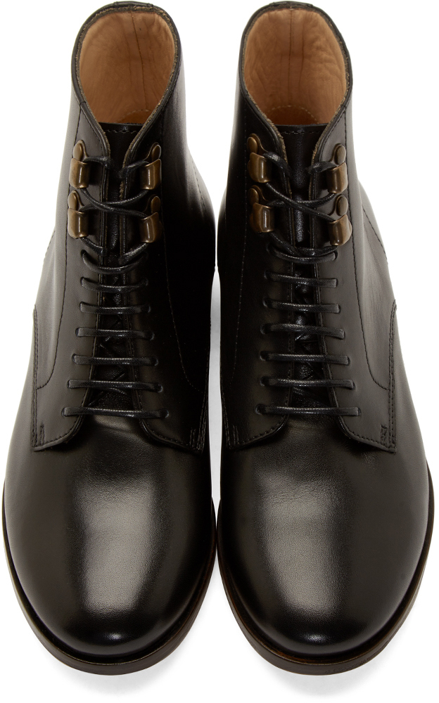 A.P.C. Black Leather Francoise Ankle Boots