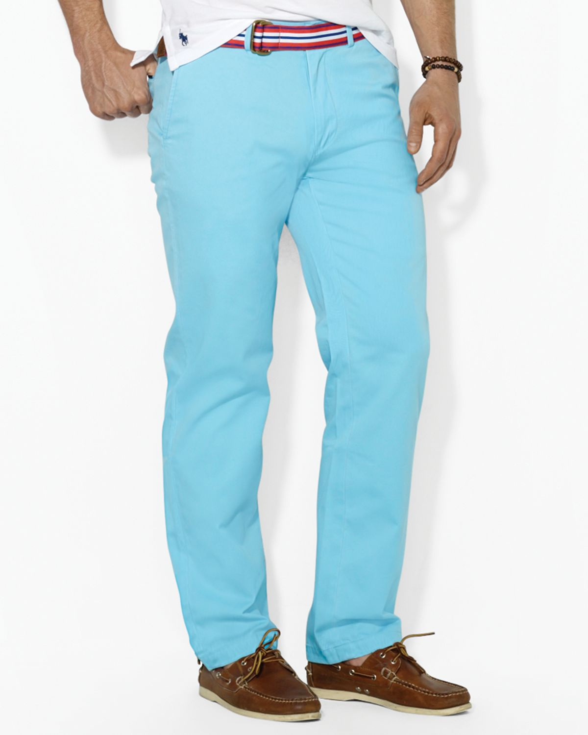 516f32c37cde denmark lyst ralph lauren polo classicfit flatfront chino pant in blue for  men 48c35 b5465