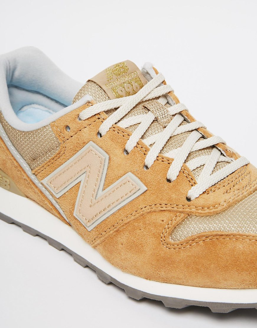 204f3ef8acdc5 Lyst - New Balance 996 Sand Leather   Mesh Trainers in Natural