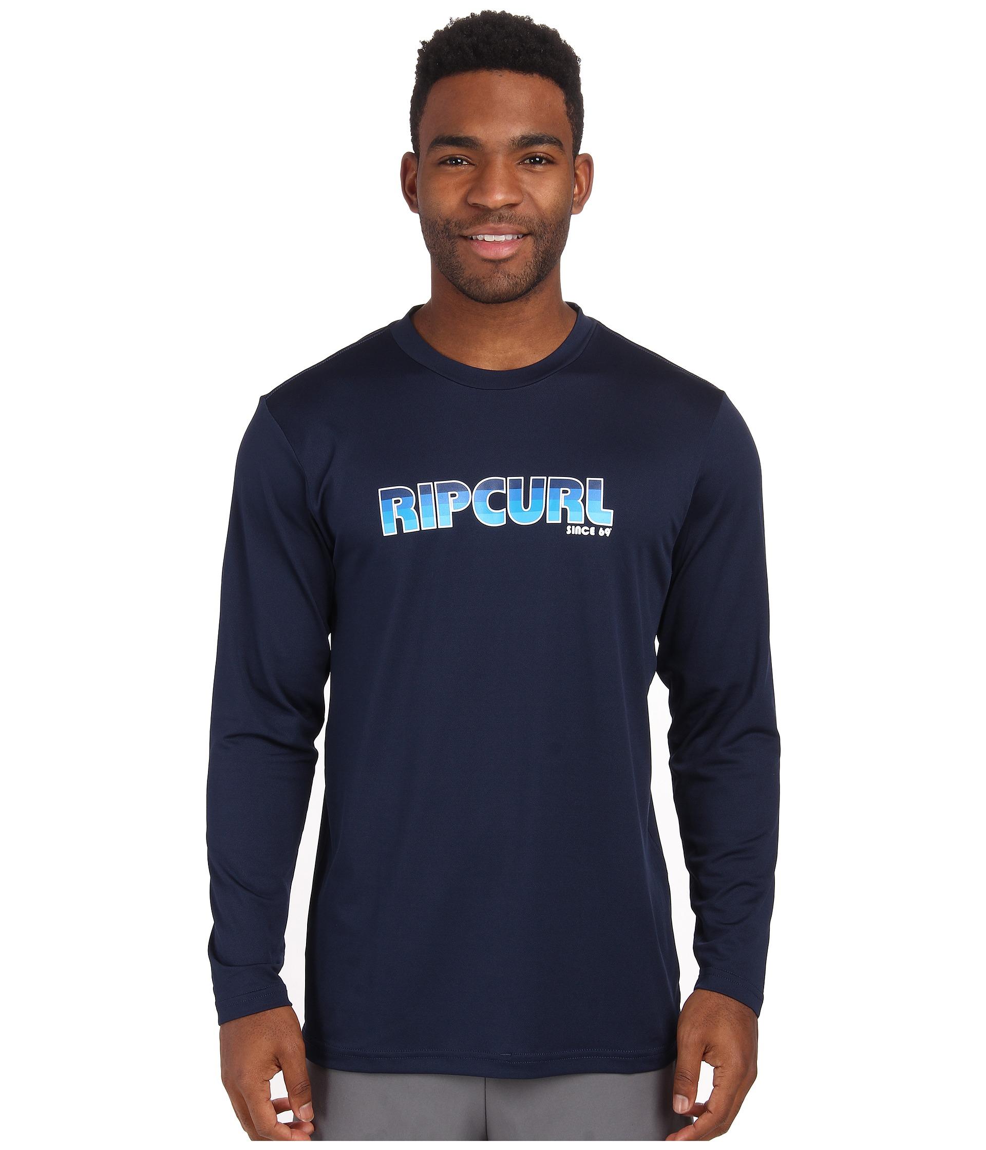 Lyst Rip Curl Big Mama Long Sleeve Surf Shirt In Blue