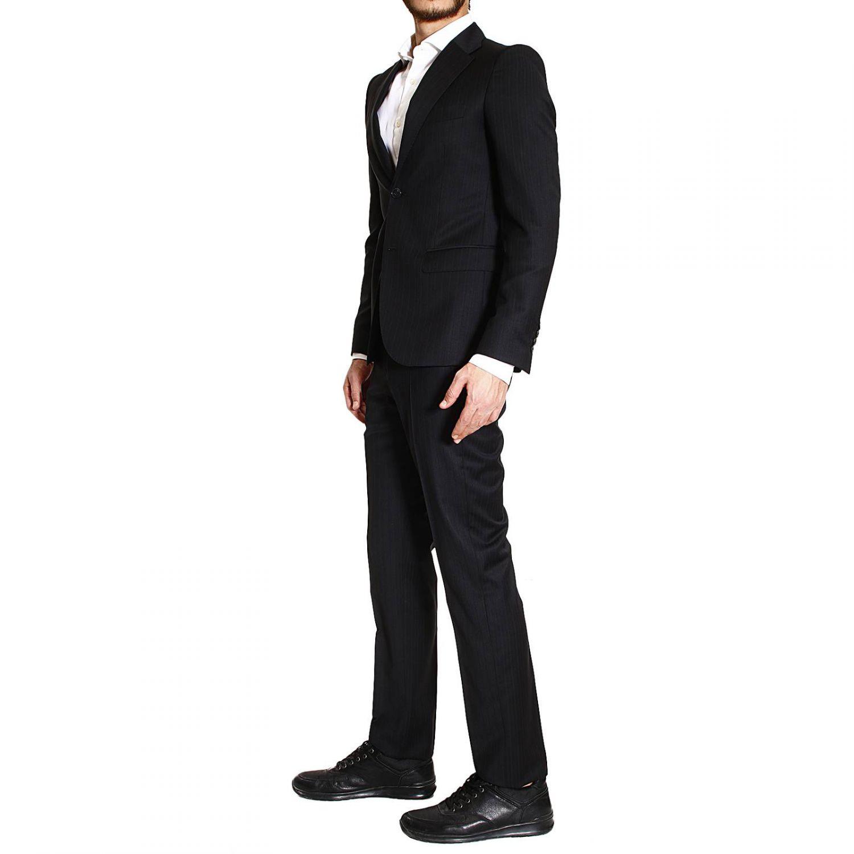 lyst john richmond suit 2 buttons wool pinstripe ton sur. Black Bedroom Furniture Sets. Home Design Ideas