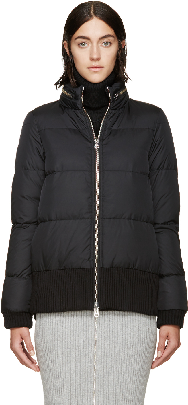 Lyst - MM6 by Maison Martin Margiela Black Quilted Down Jacket in Black 98fe41c437