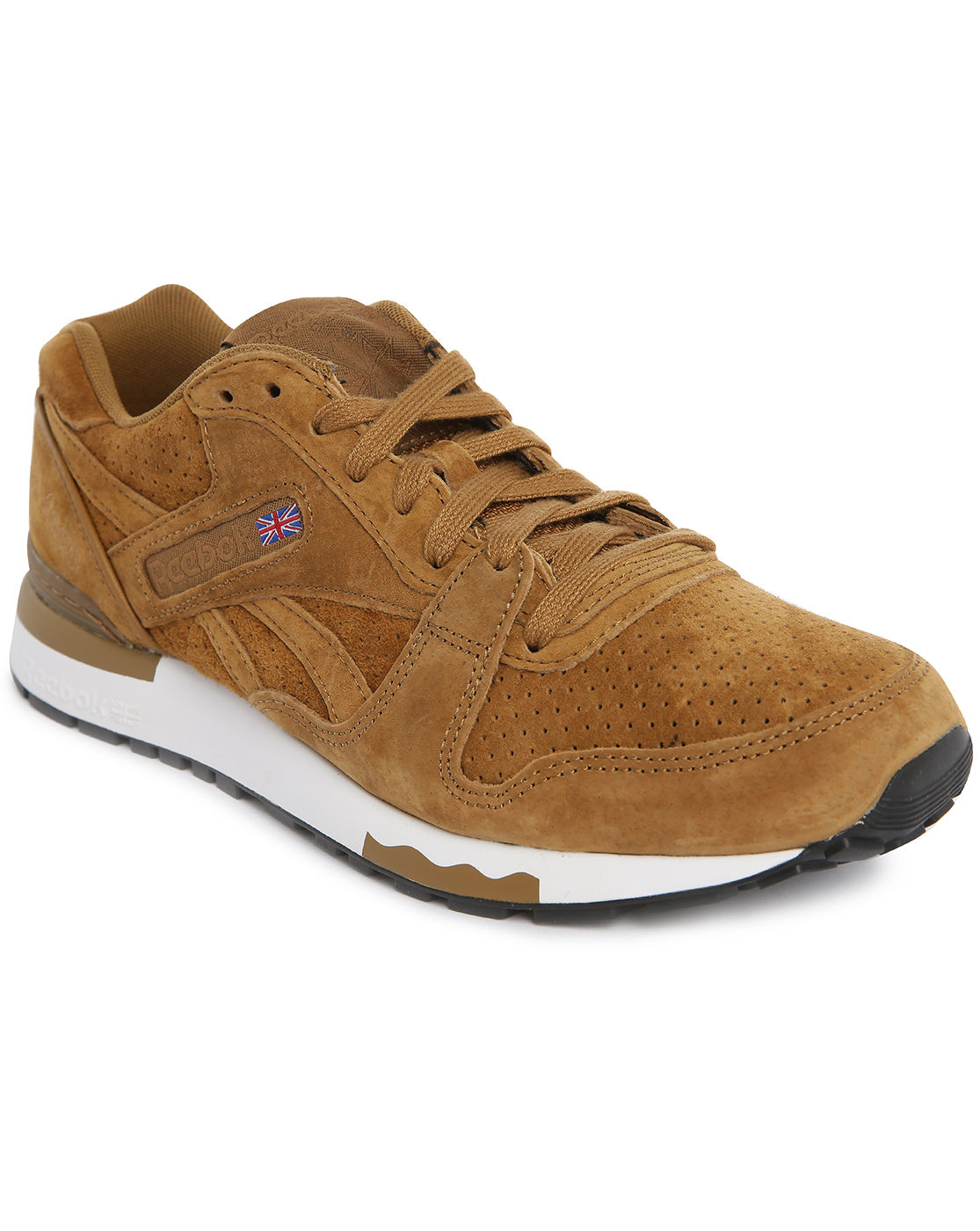reebok gl 6000 tobacco suede sneakers in brown for men tobacco lyst. Black Bedroom Furniture Sets. Home Design Ideas