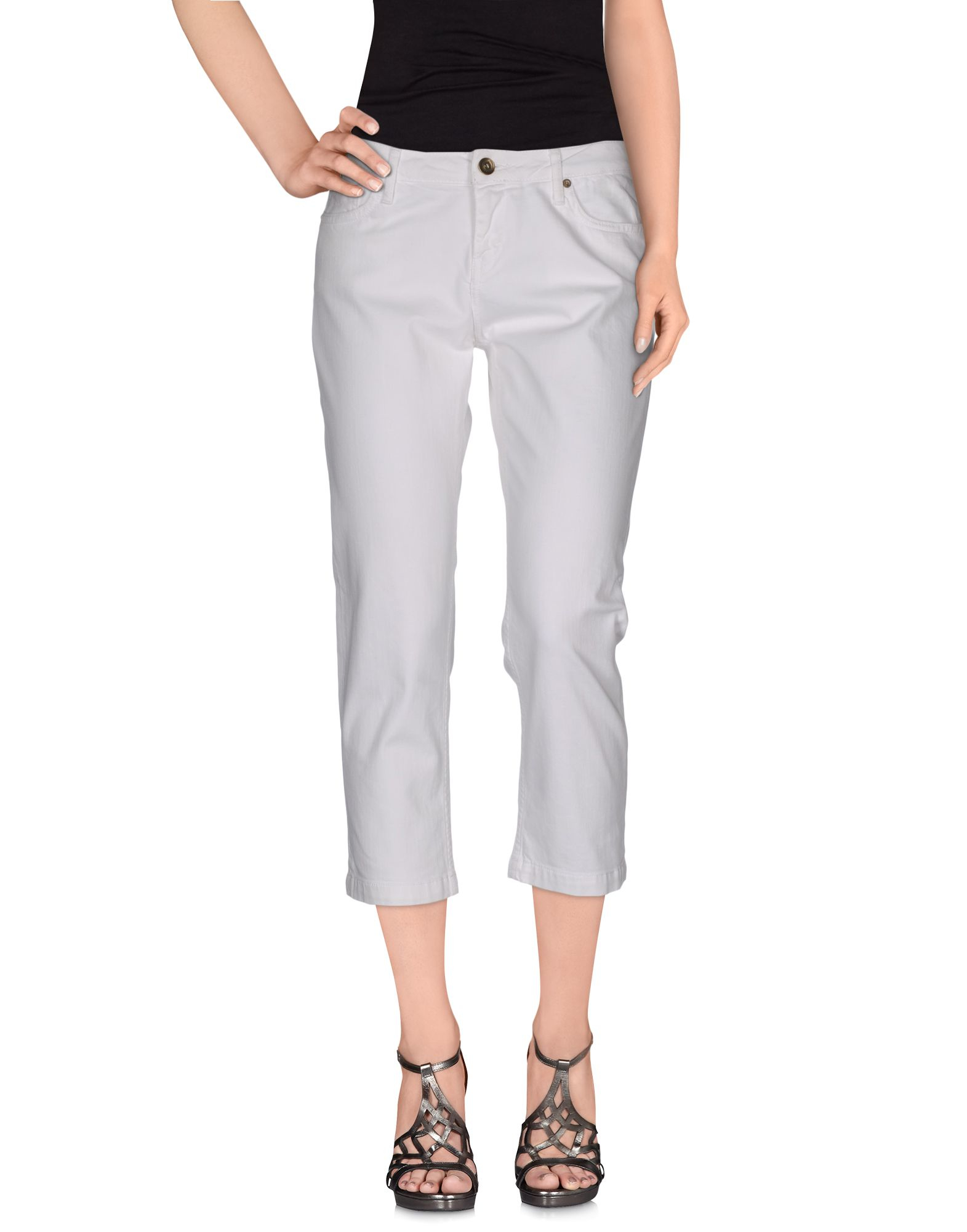 tommy hilfiger denim trousers in white lyst. Black Bedroom Furniture Sets. Home Design Ideas
