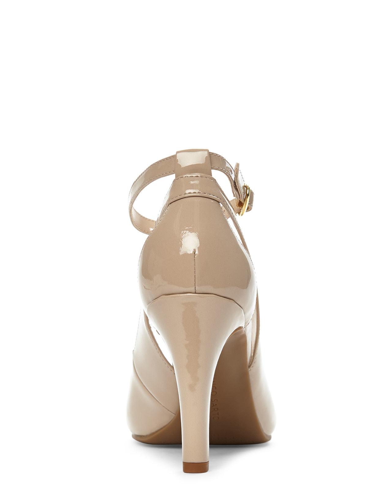 b90821db4a1b Lyst - Franco Sarto Nude Emmy Peep Toe Pumps in Natural