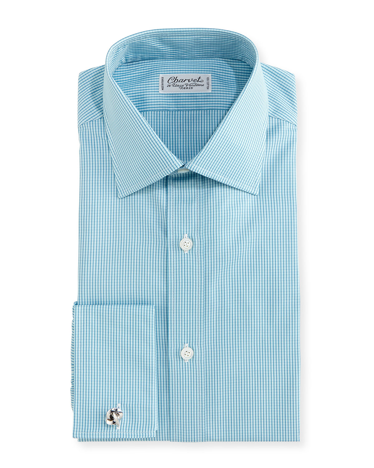 Charvet Check French Cuff Dress Shirt In Blue For Men Lyst