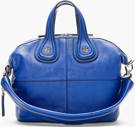 Givenchy Royal Blue Leather Nightingale Shoulder Bag in Blue