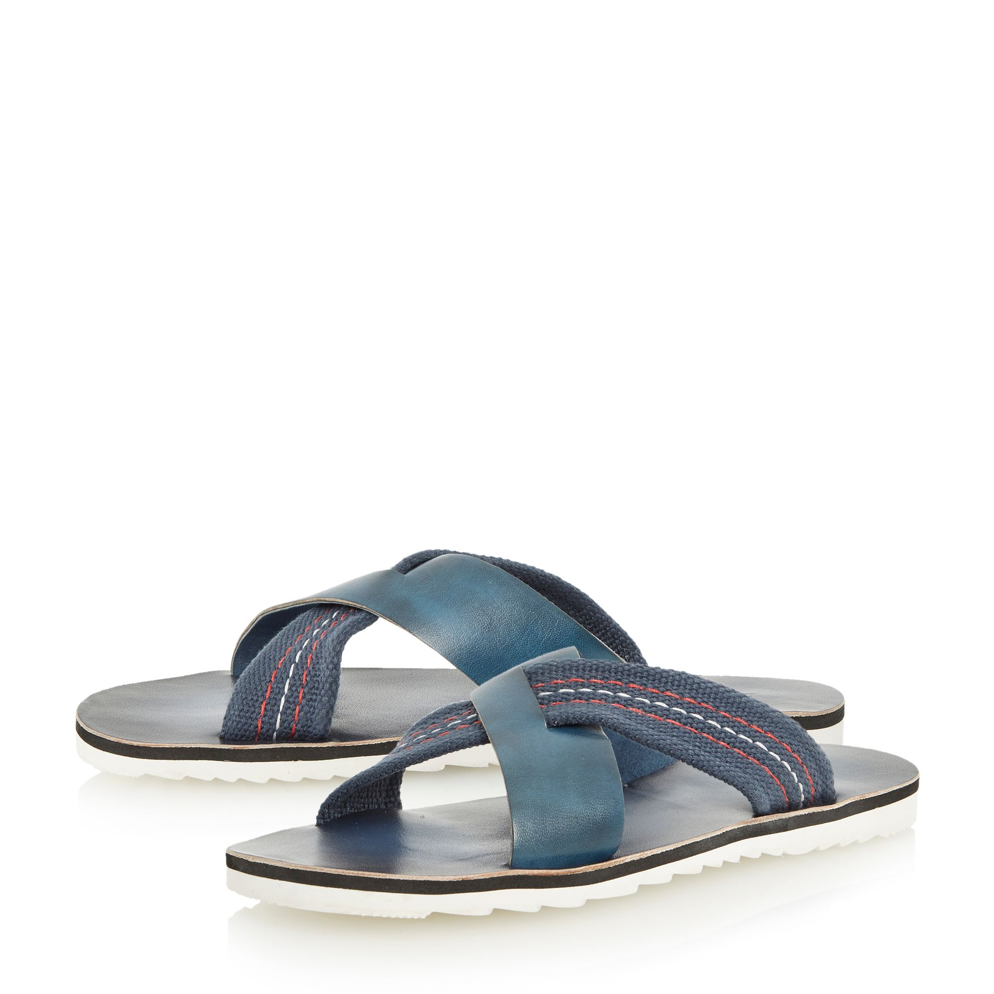 Dune Inky Slip On Casual Sandals In Blue For Men Navy Lyst